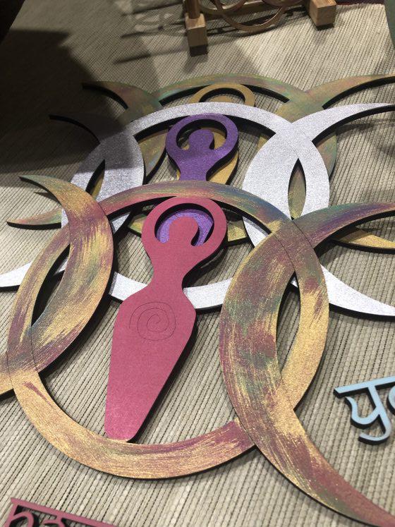Mandala Diosa Triple lunar